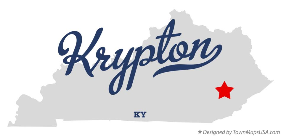 Map of Krypton Kentucky KY
