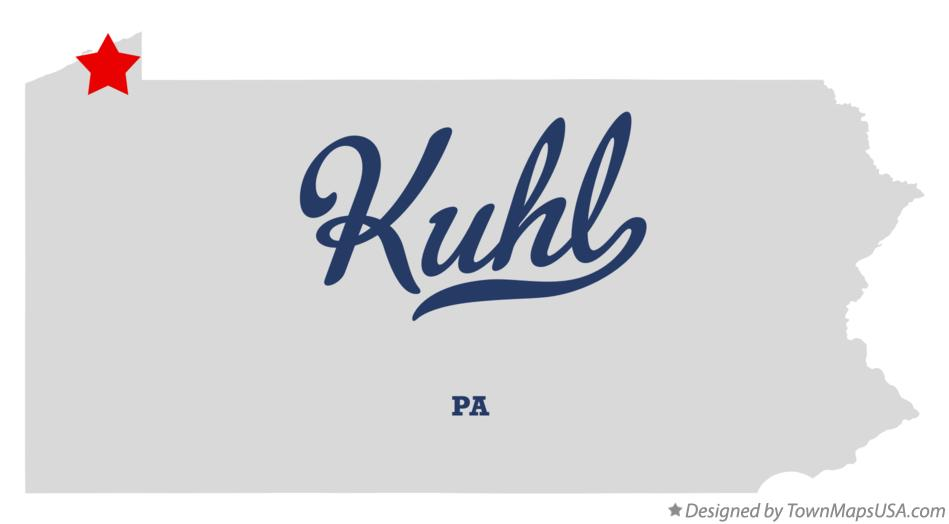 Map of Kuhl Pennsylvania PA