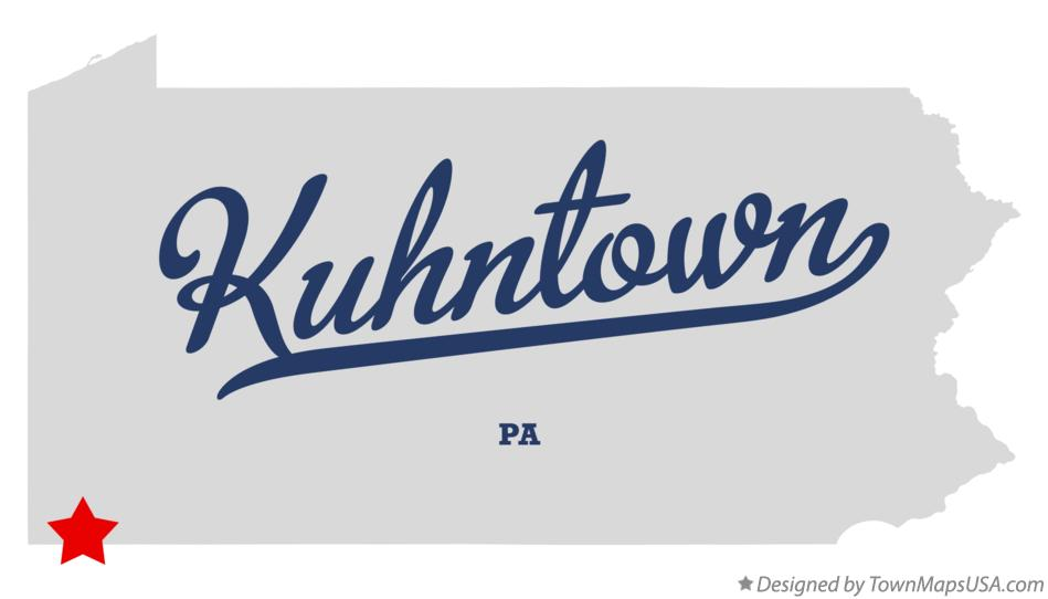 Map of Kuhntown Pennsylvania PA