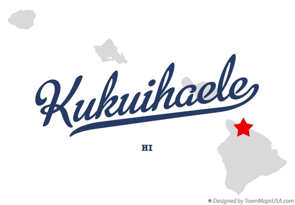 Map of Kukuihaele Hawaii HI