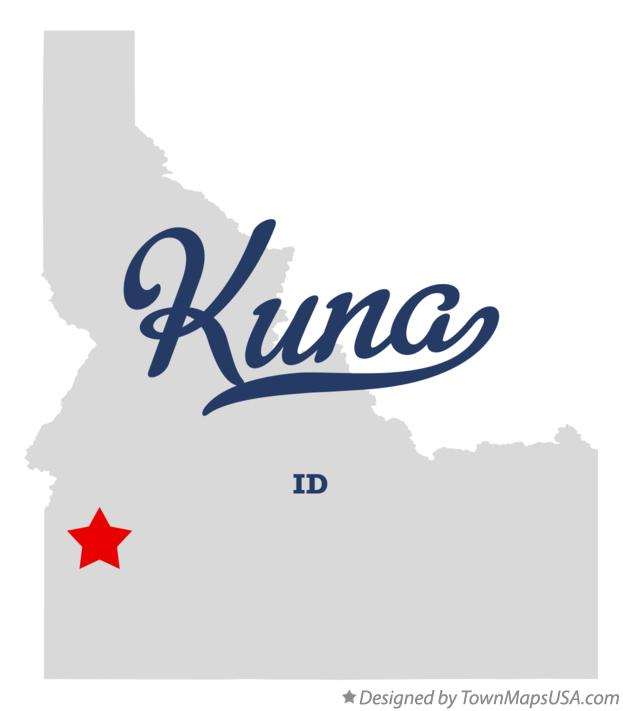 Map of Kuna ID Idaho