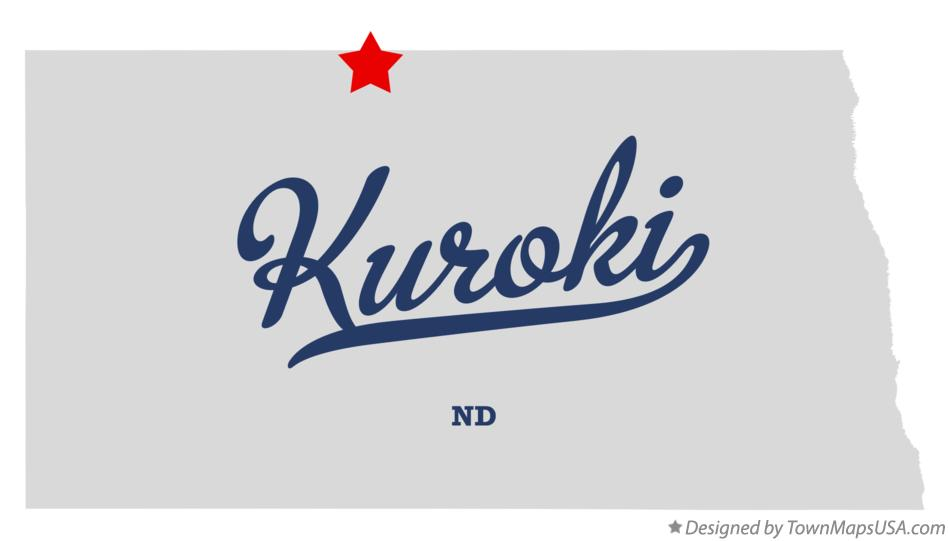 Map of Kuroki North Dakota ND