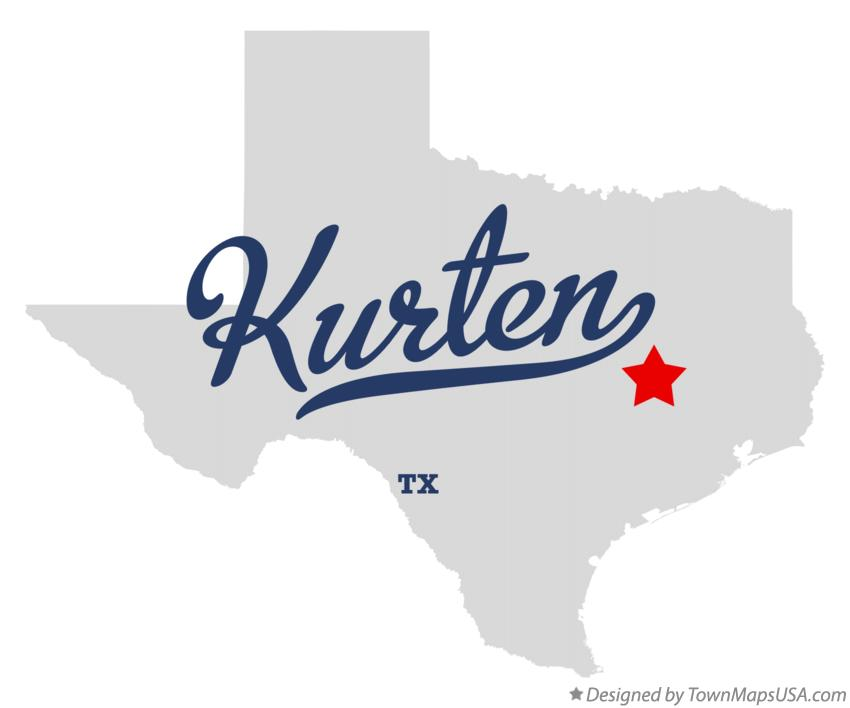 Map of Kurten Texas TX