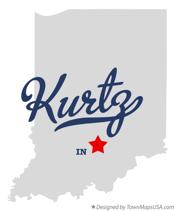 Map of Kurtz Indiana IN