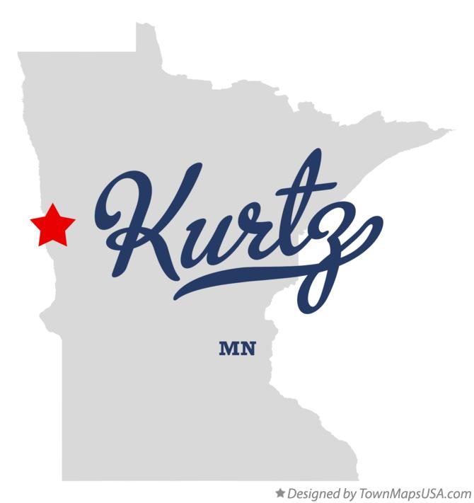 Map of Kurtz Minnesota MN