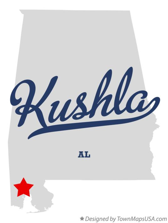Map of Kushla Alabama AL