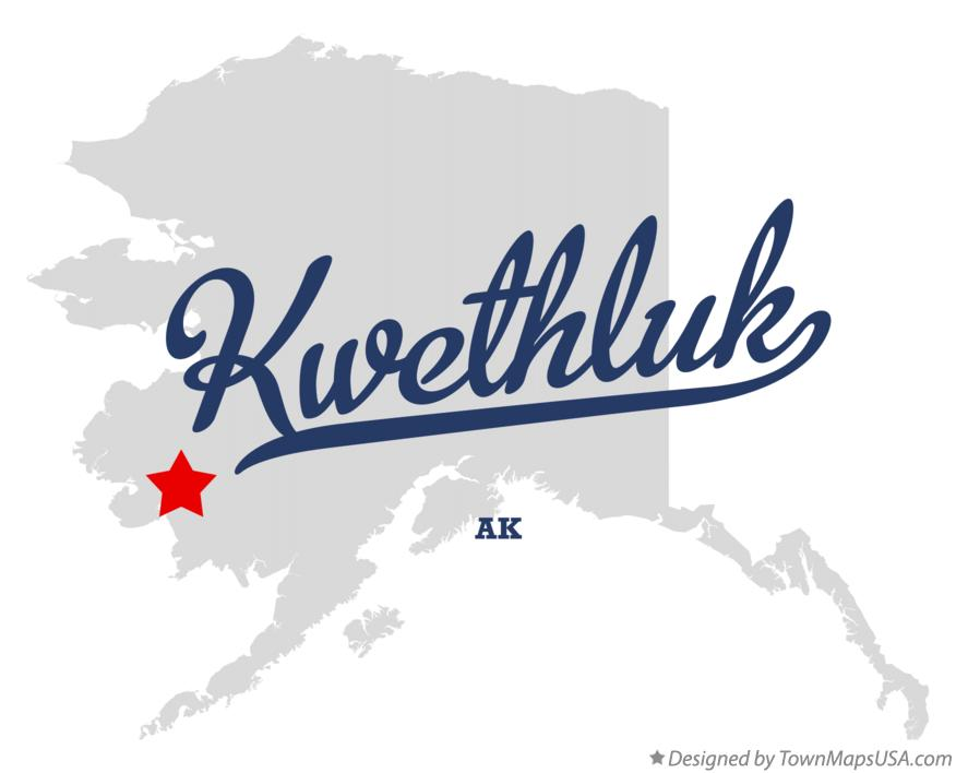 Map of Kwethluk Alaska AK
