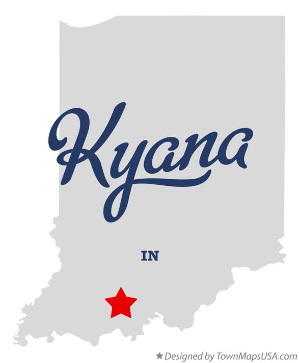 Map of Kyana Indiana IN