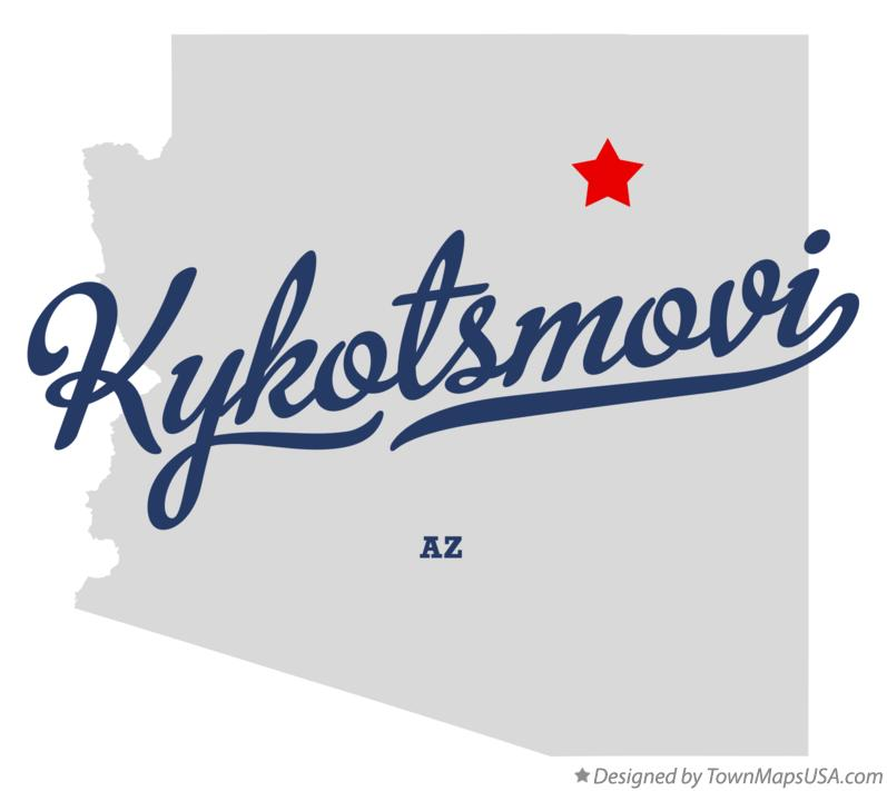Map of Kykotsmovi Arizona AZ