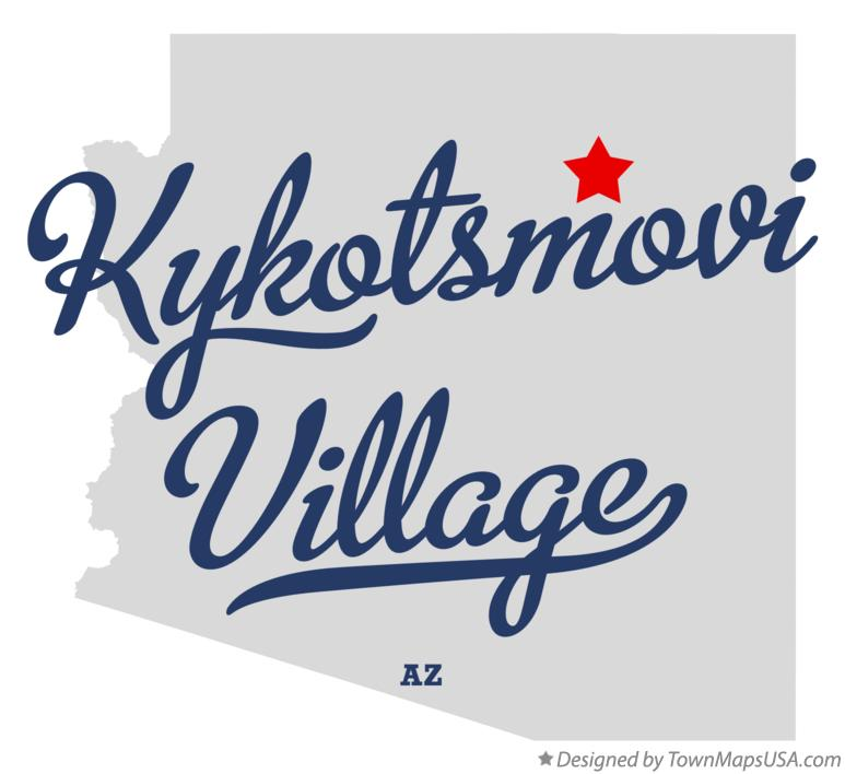 Map of Kykotsmovi Village Arizona AZ