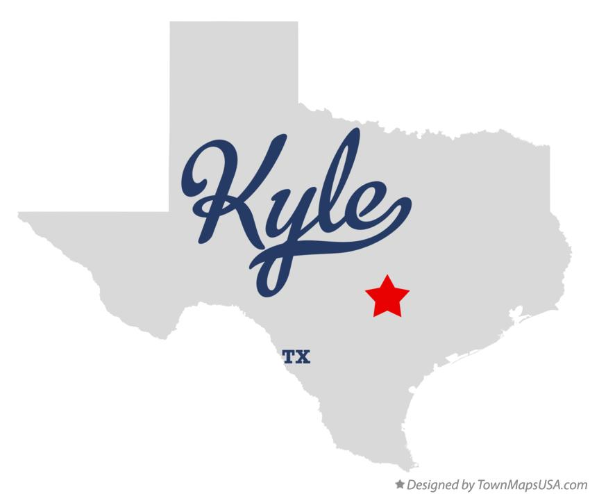 Map of Kyle Texas TX