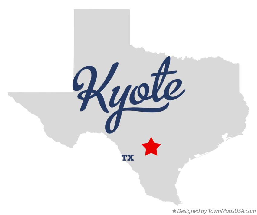 Map of Kyote Texas TX