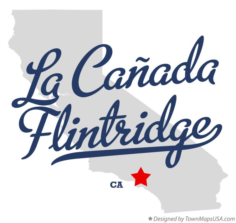 Map of La Cañada Flintridge California CA