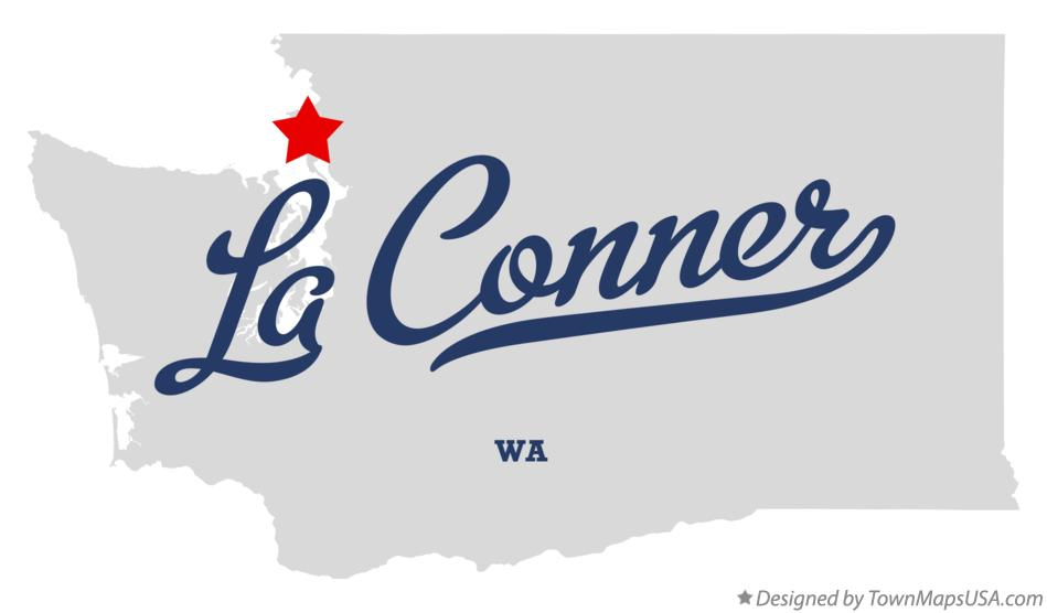 Map of La Conner Washington WA