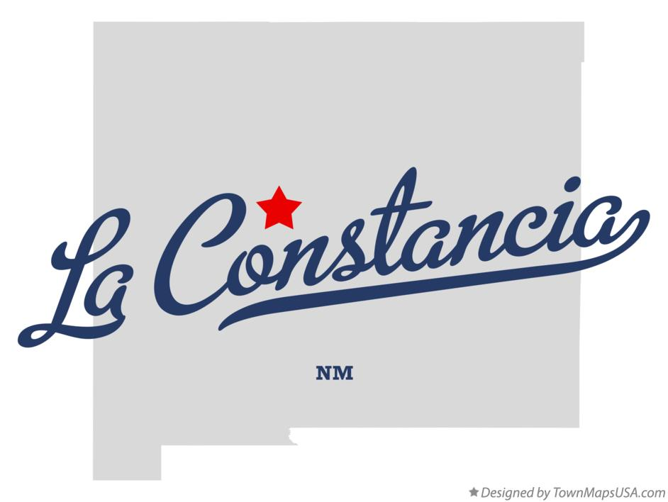 Map of La Constancia New Mexico NM