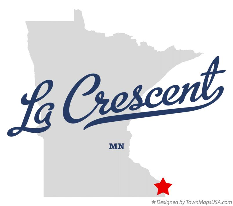 Map of La Crescent Minnesota MN