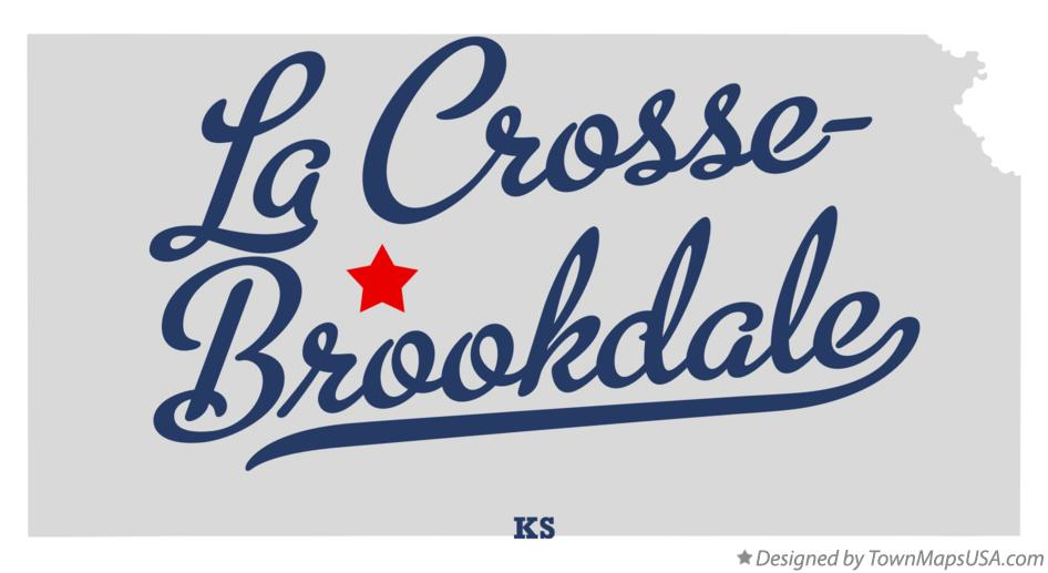 Map of La Crosse-Brookdale Kansas KS