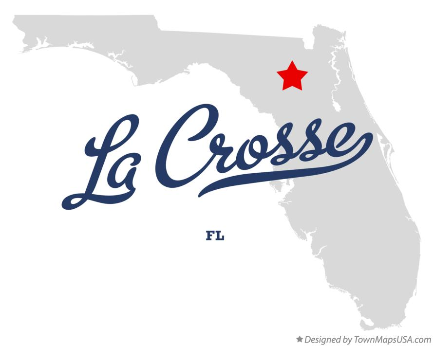Map of La Crosse Florida FL
