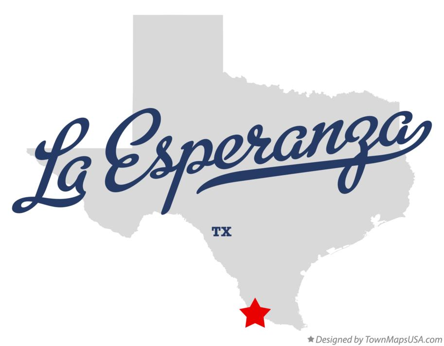 Map of La Esperanza Texas TX