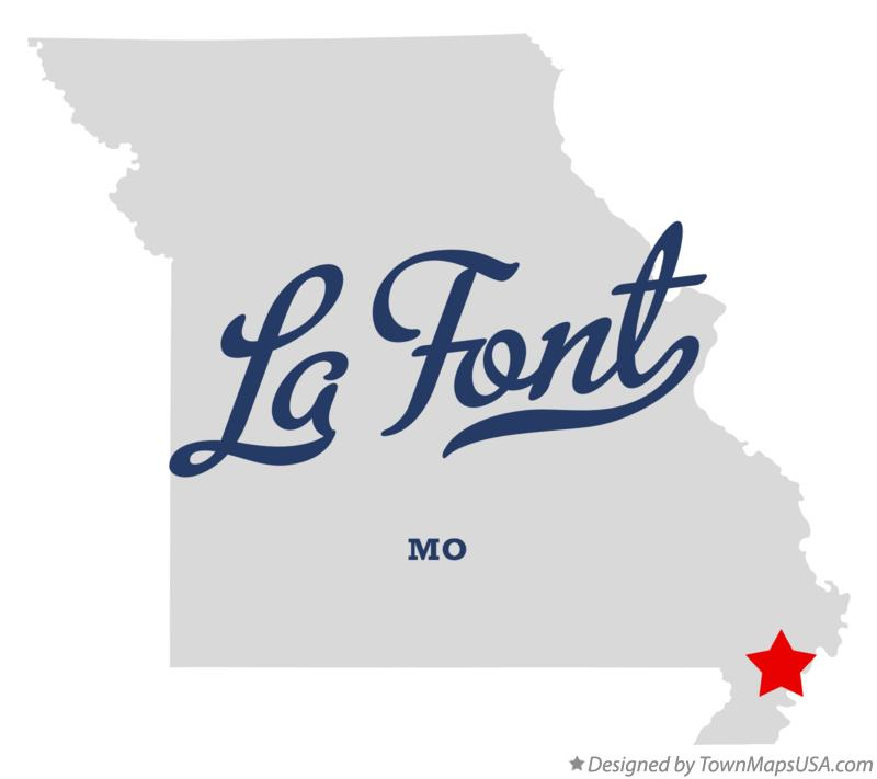 Map of La Font Missouri MO