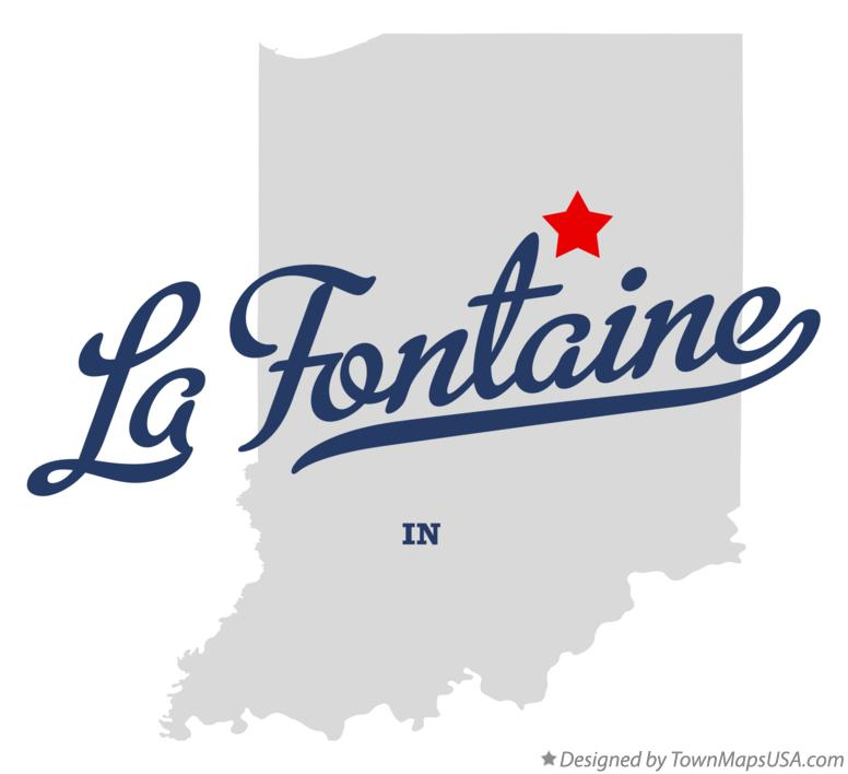 Map of La Fontaine Indiana IN