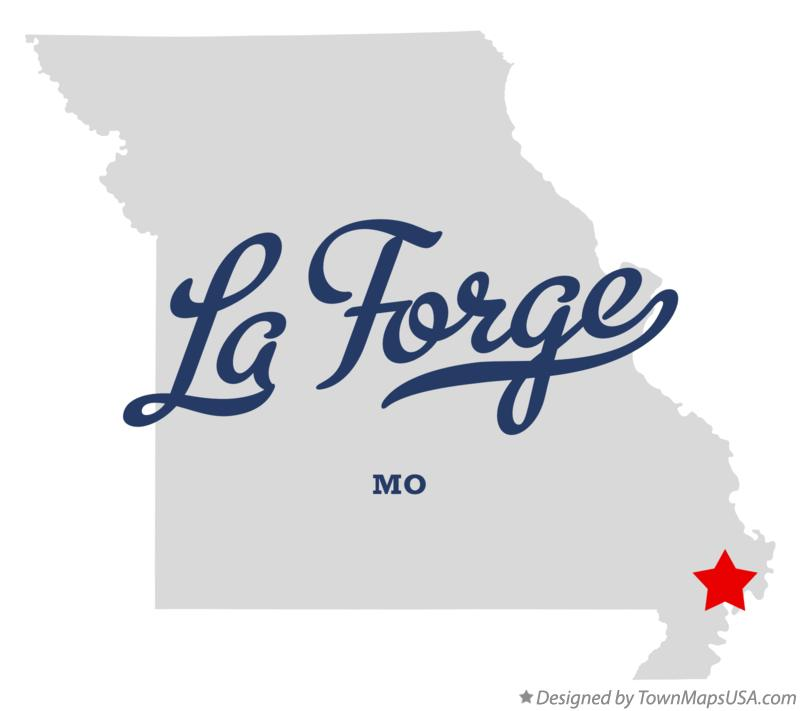 Map of La Forge Missouri MO