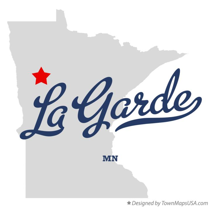 Map of La Garde Minnesota MN