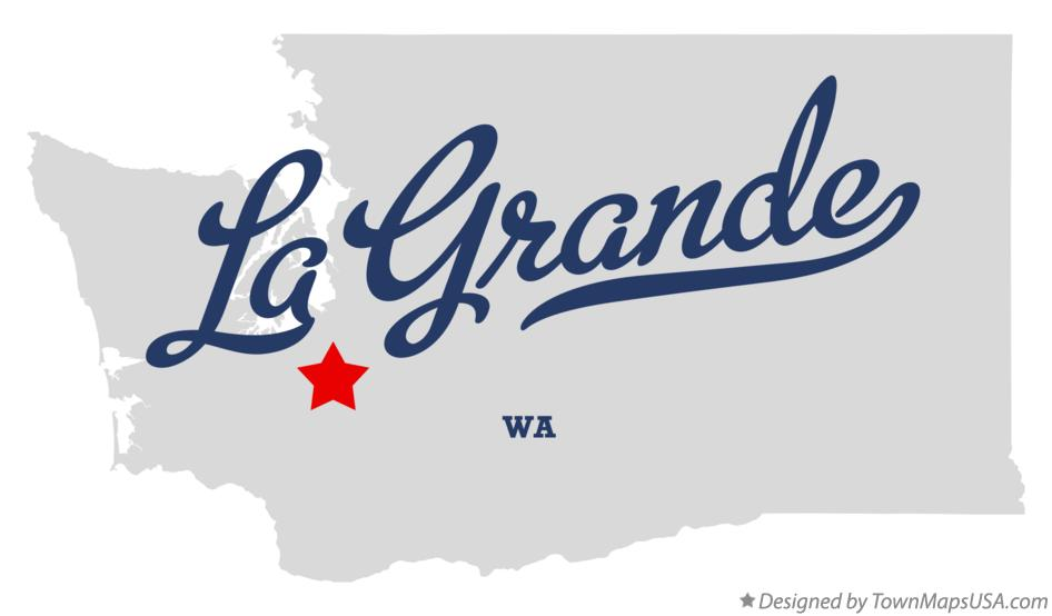Map of La Grande Washington WA