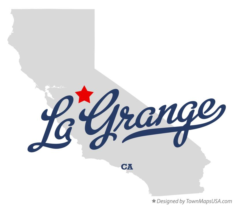 Map of La Grange California CA