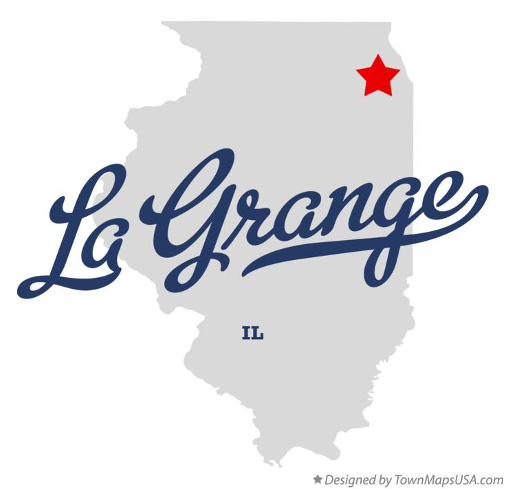 Map of La Grange Illinois IL
