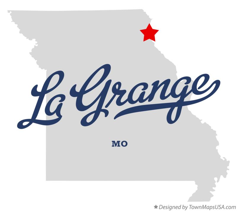 Map of La Grange Missouri MO