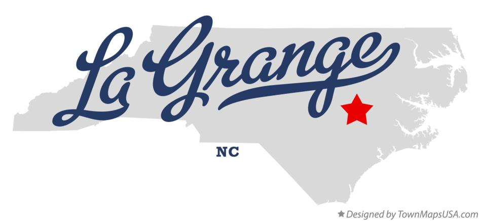 Map of La Grange North Carolina NC