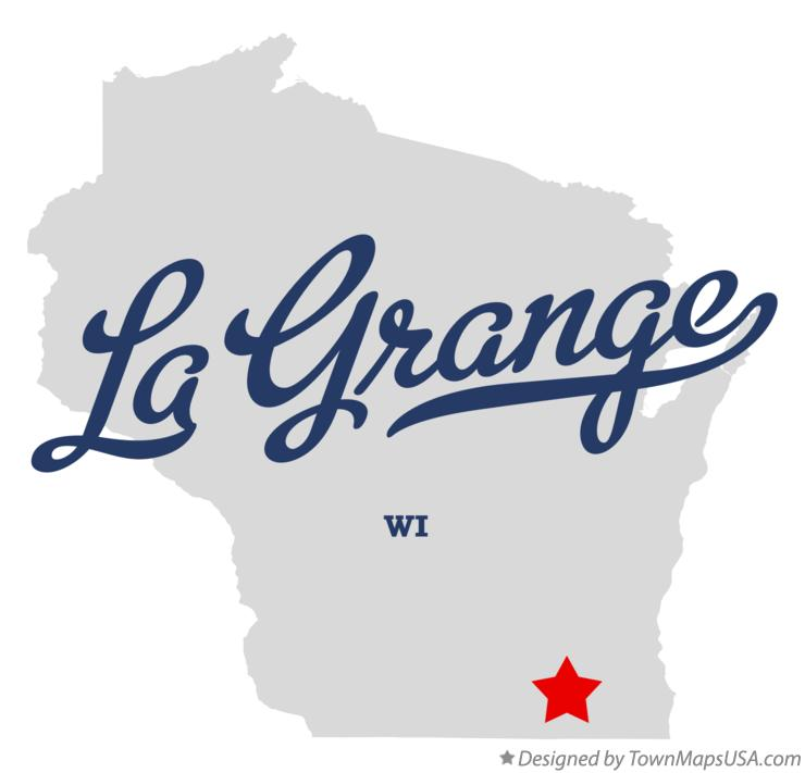 Map of La Grange Wisconsin WI