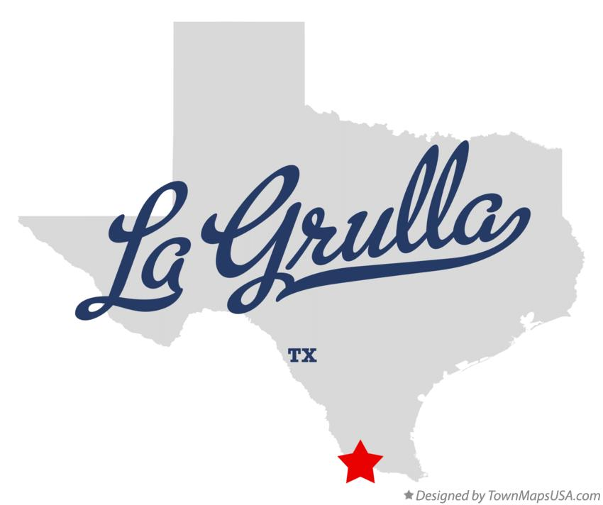Map of La Grulla Texas TX