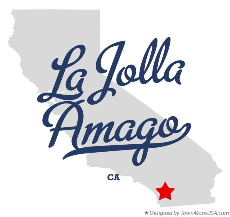 Map of La Jolla Amago California CA