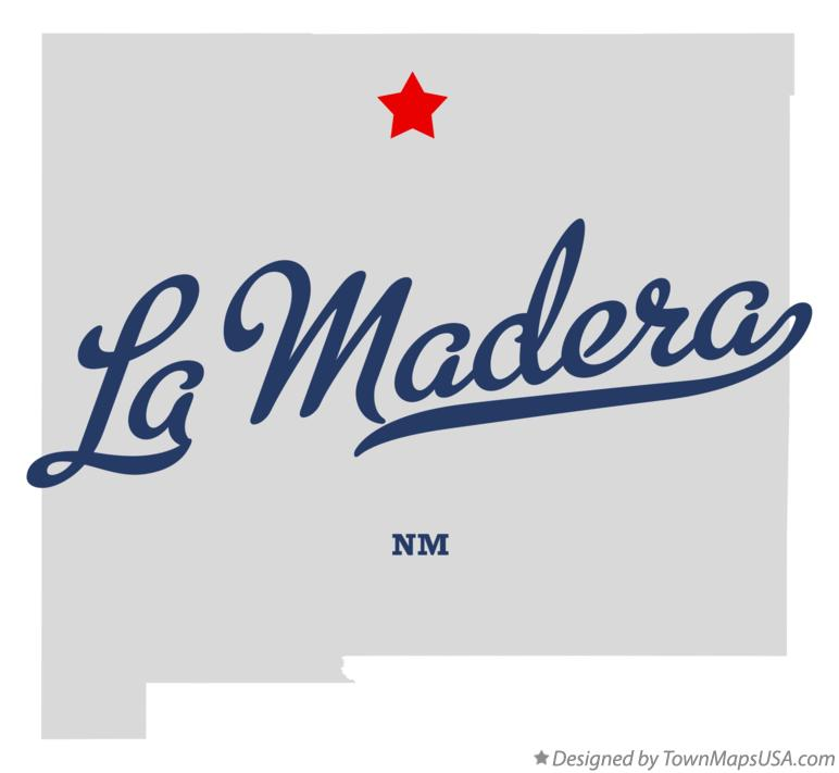 Map of La Madera New Mexico NM