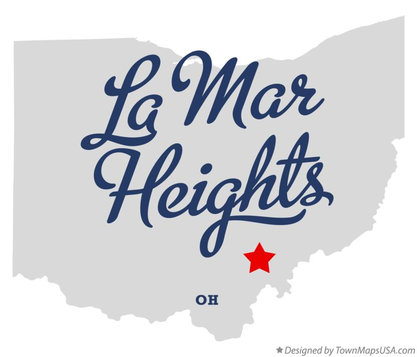 Map of La Mar Heights Ohio OH
