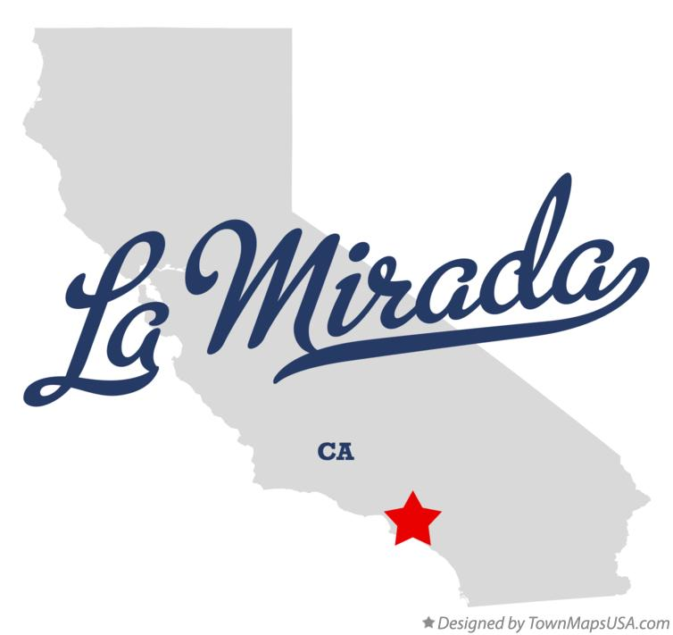 Map Of La Mirada Ca California