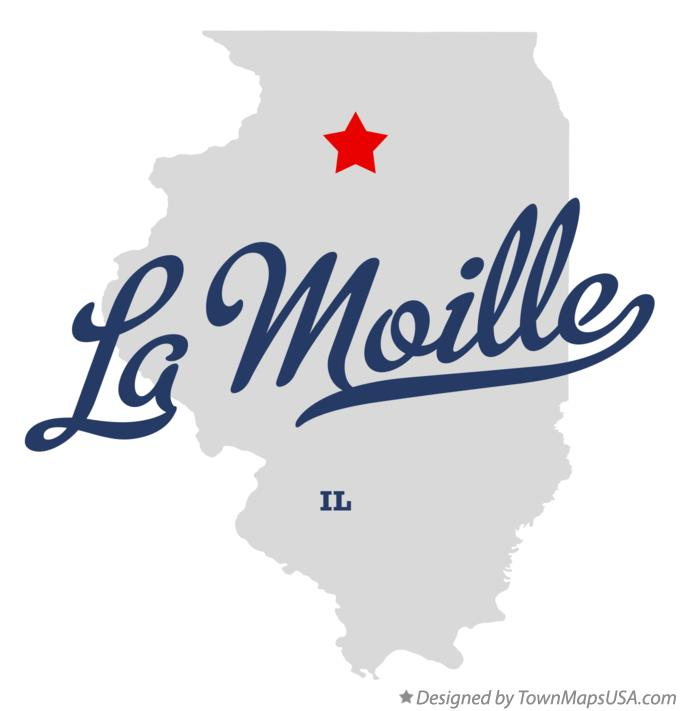 Map of La Moille Illinois IL