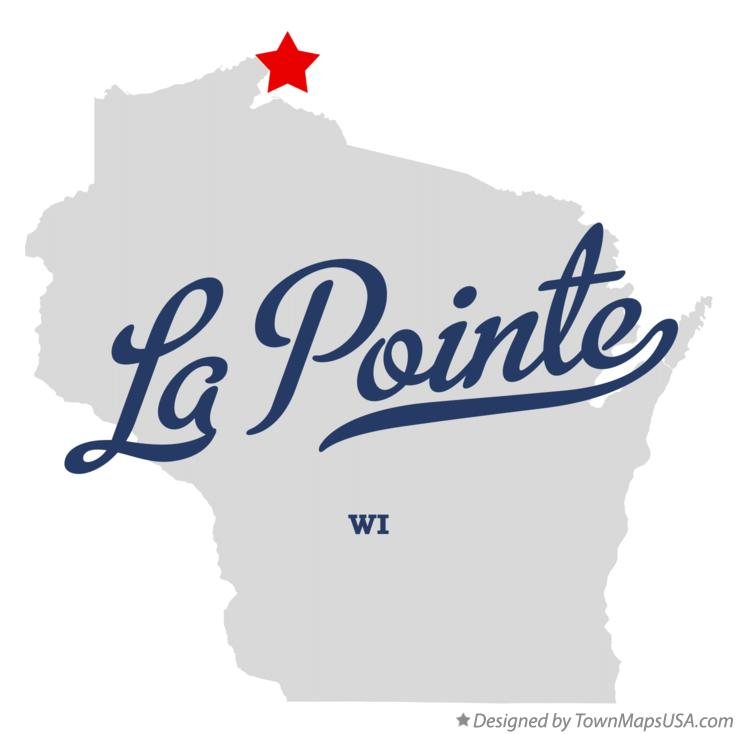Map of La Pointe Wisconsin WI