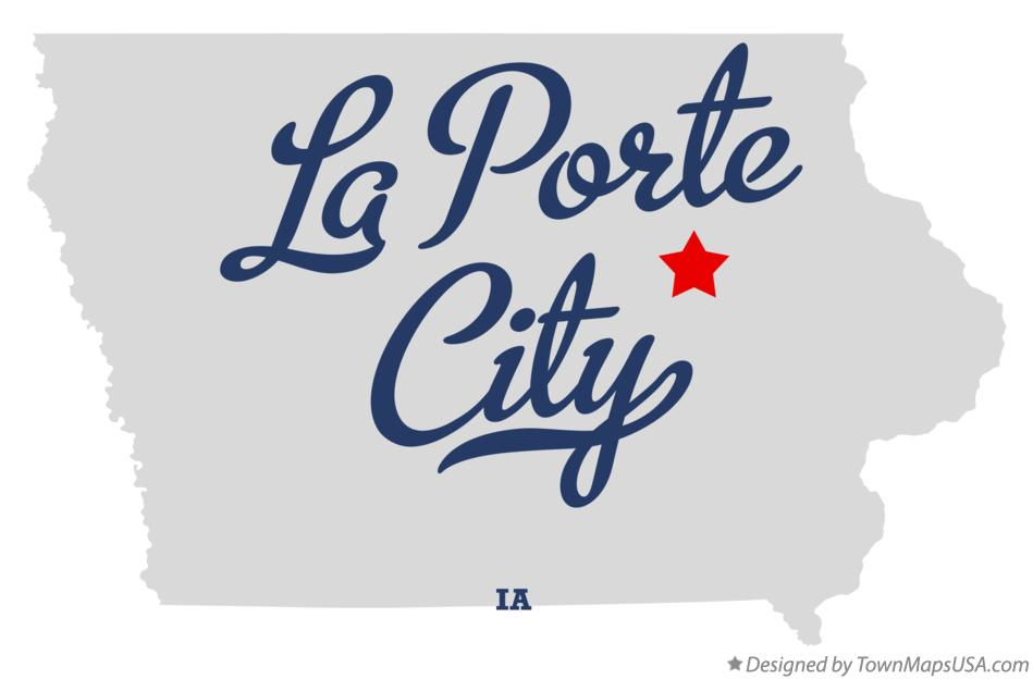 Map of La Porte City Iowa IA