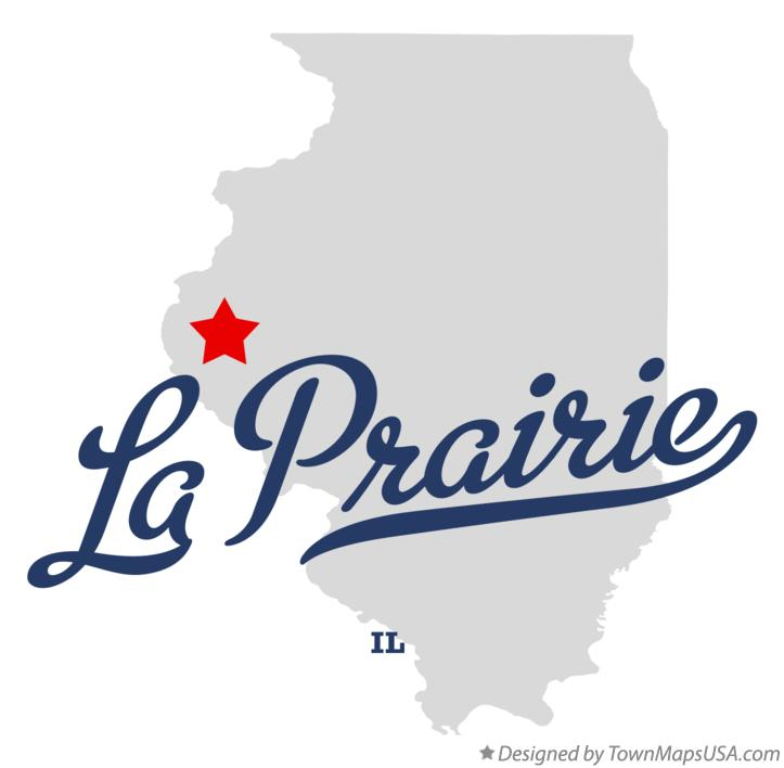 Map of La Prairie Illinois IL