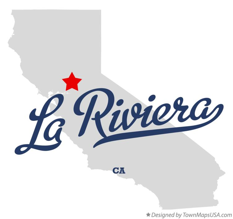 Map of La Riviera California CA