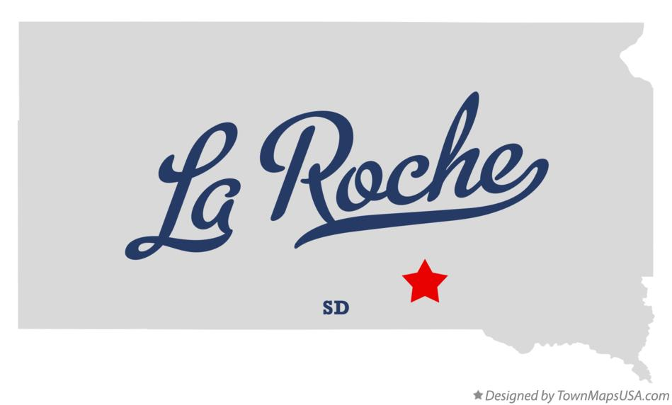 Map of La Roche South Dakota SD