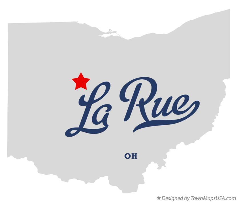 Map of La Rue Ohio OH