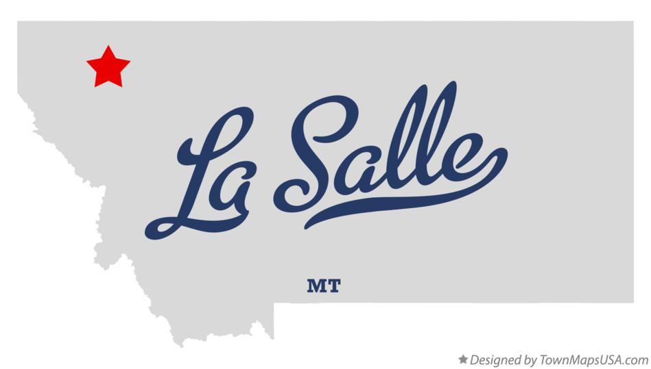Map of La Salle Montana MT