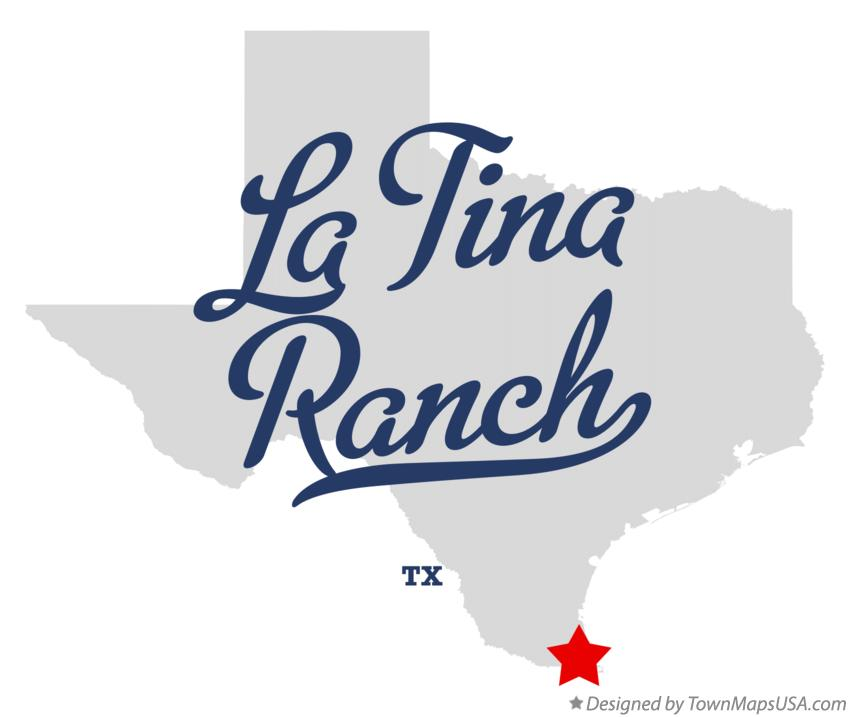 Map of La Tina Ranch Texas TX