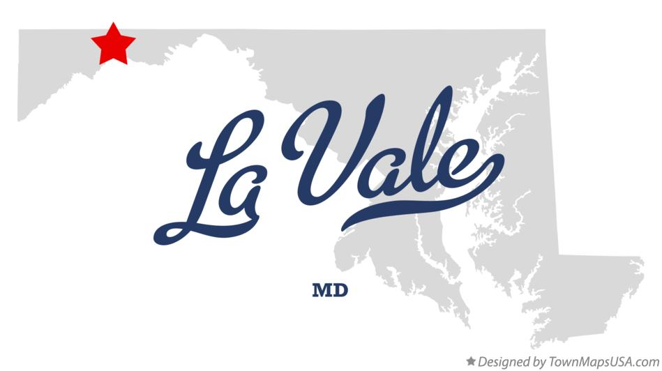 Map of La Vale Maryland MD