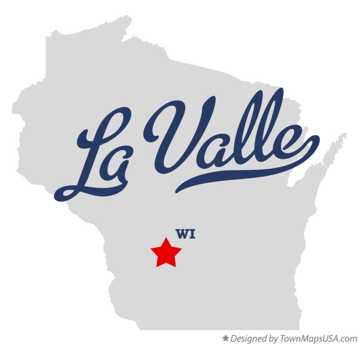 Map of La Valle Wisconsin WI