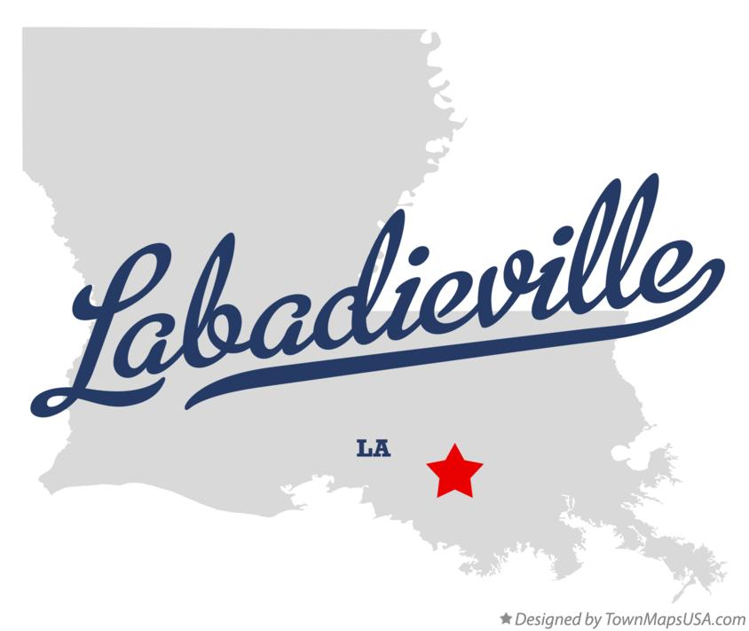 Map of Labadieville Louisiana LA
